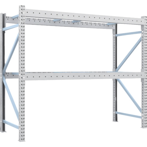 【2D20B23092】TRUSCO 重量パレット棚2トン2300×900×H2000単体 2段(1台)