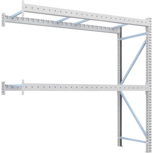 【2D25B25092B】TRUSCO 重量パレット棚2トン2500×900×H2500連結 2段(1台)
