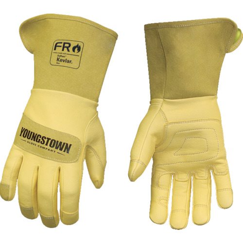 【12327560S 】YOUNGST 革手袋 FRレザー ケブラー(R) ワイドカフ(1双)