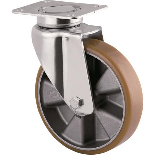 【3640ITP160P63CONVEX 】テンテキャスター 重荷重用高性能旋回キャスター(ウレタン車輪・メンテナンスフリー)(1個)
