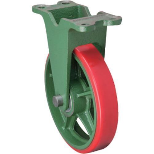 【300KULB 】東北車輛製造所 標準型固定金具付ウレタン車輪(1個)