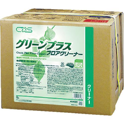 【4520281】シーバイエス 洗浄剤 グリーンプラスフロアクリーナー 18L(1個)