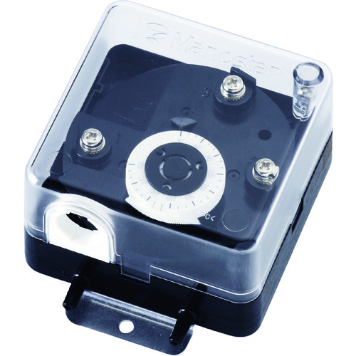 【MS99LV1000DH】マノスター 微差圧スイッチ マノスタースイッチ <口金一体型 下限設定用 水平取付>(1台)