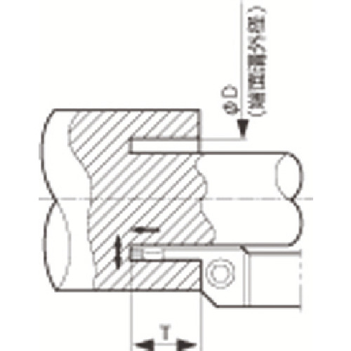 【KFMSR2525M35504】京セラ 溝入れ用ホルダ(1本)