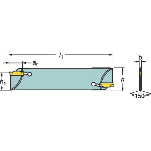 【N123G5525A2】サンドビック コロカット1・2 突切りブレード(1個)