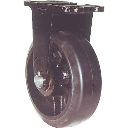 【MHAMK300X100】ヨドノ 鋳物重量用キャスター 許容荷重882 取付穴径18mm (1個)※直送品の為代引き不可※