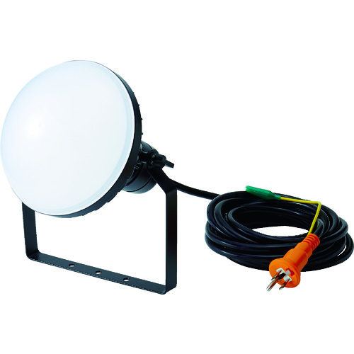 【RTLE505EP 】TRUSCO LED投光器 DELKURO 50W 5m アース付 2芯3芯両用タイプ(1台)