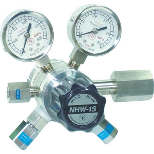 【NHW1SLTRC】ヤマト 分析機用フィン付二段微圧調整器 NHW-1SL(1個)