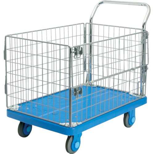 【PLA300AMIM1】カナツー 静音PLA300網樹脂製運搬車(1台)