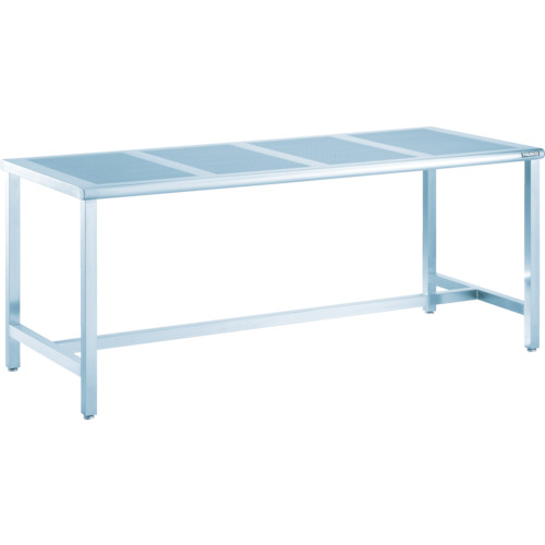 【PTH1570】TRUSCO パンチングテーブルSUS304 1500X750 ヘアーライン(1台)