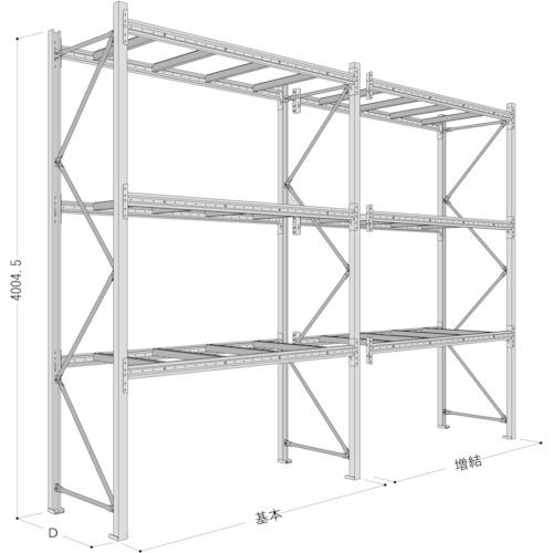 配送員設置 【P640Y25A2113】NF パレットラック2ton用単体(1台):機械工具と部品の店 ルートワン-DIY・工具