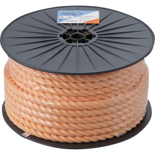 R1650PV 予約販売 TRUSCO PVロープ 線径16mmX長さ50m 再販ご予約限定送料無料 1巻 3つ打