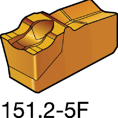 【R151.2250055F:2135】サンドビック T-Max Q-カット 突切り・溝入れチップ 2135(10個)