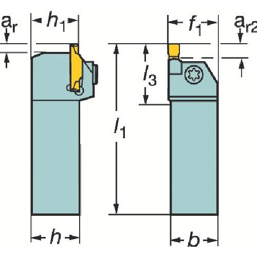 【RF123G072525C】サンドビック コロカット1・2 突切り・溝入れ用シャンクバイト(1個)