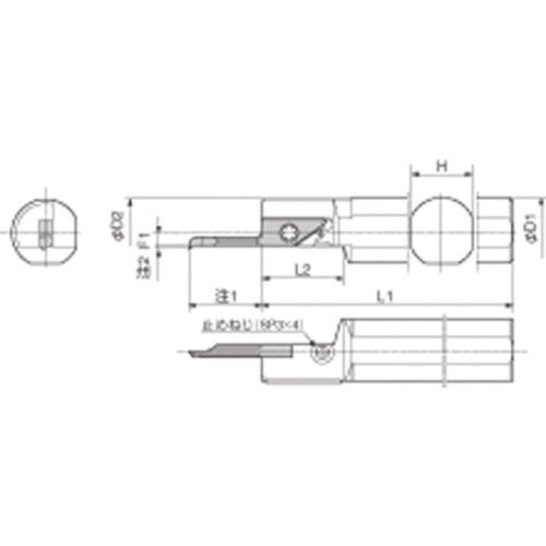 【S19HSVNR12SN】京セラ 内径加工用ホルダ(1個)