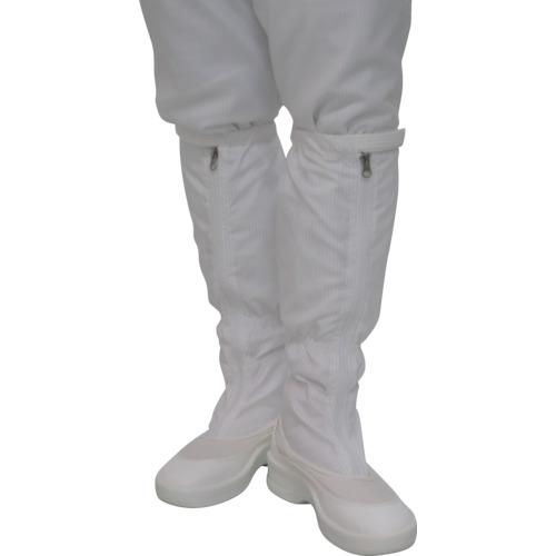【PA9350W25.0】ゴールドウイン ファスナー付ロングブーツ ホワイト 25.0cm(1足)