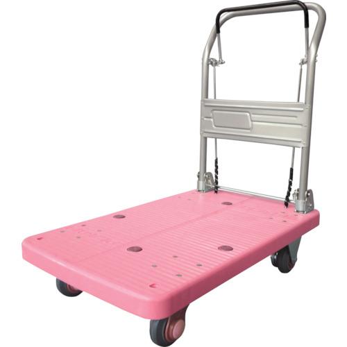 【PLA200M1DXDBP】カナツー 静音プラ 200 ドラムブレーキ付 折畳式 ピンク(1台)