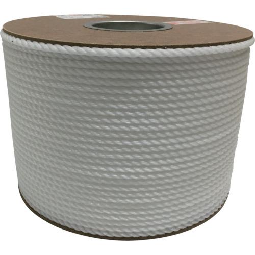 【PRE107】ユタカメイク ポリエチレンロープドラム巻 6mm×200m ホワイト(1巻)