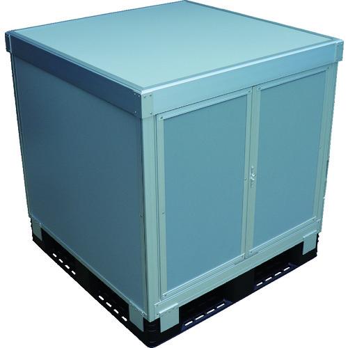 【SCP3T11190】TRUSCO スタックカーゴ1面観音扉・3面パネルタイプ 1100X1100XH900(1S)※下記、注意事項ご確認ください。