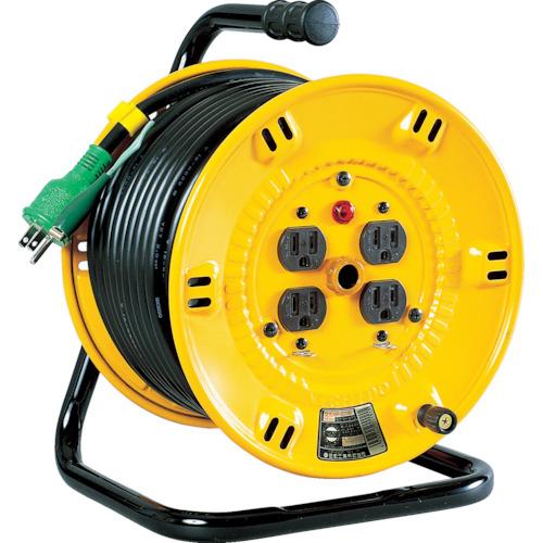 【NPE34】日動 電工ドラム 標準型100Vドラム アース付 30m(1台)