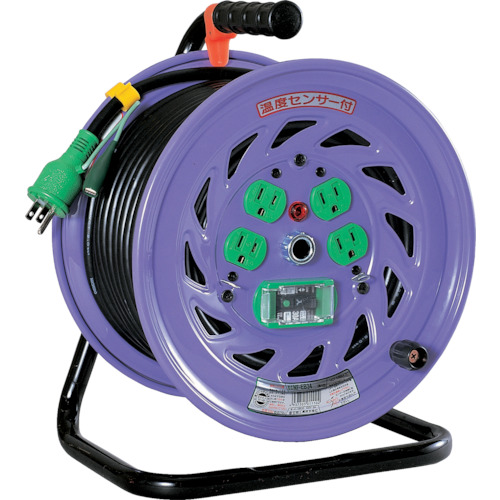【NFEB34】日動 電工ドラム 標準型100Vドラム アース漏電しゃ断器付 30m(1台)