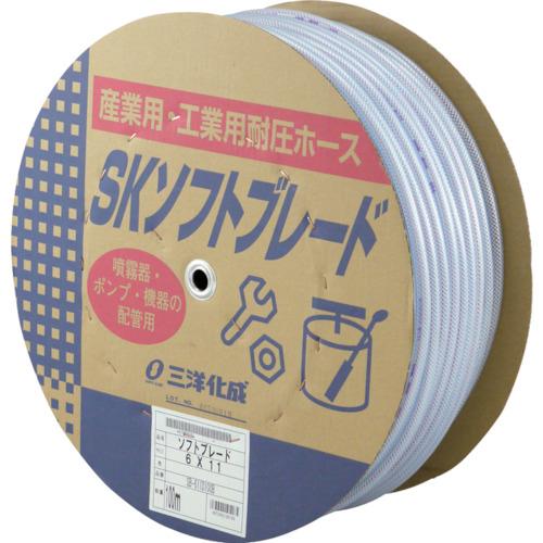 【SB611D100B】サンヨー SKソフトブレードホース6×11 100mドラム巻(1巻)