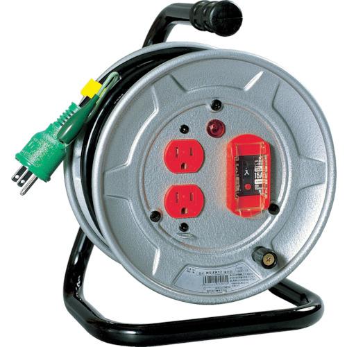 【NSEK12】日動 電工ドラム 標準型100Vドラム アース過負荷漏電しゃ断器付 10m(1台)