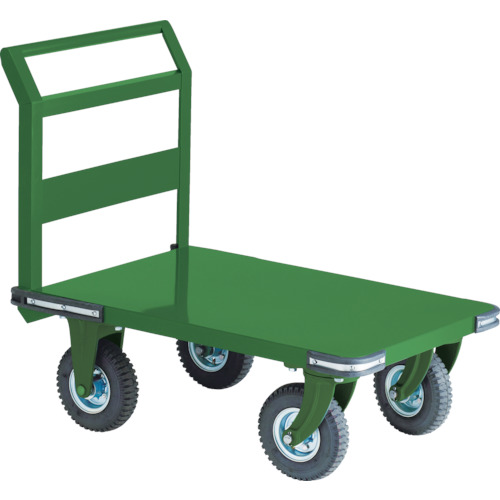 【OH2AR】TRUSCO 鋼鉄製運搬車 900X600 Φ223空気入タイヤ 鋳物金具(1台)