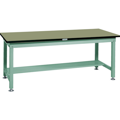 【RHW1809:GN】TRUSCO RHW型作業台 1800X900XH740 緑(1台)