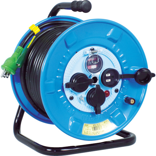 【NPWEK33】日動 電工ドラム 防雨防塵型100Vドラム アース過負荷漏電しゃ断器 30m(1台)