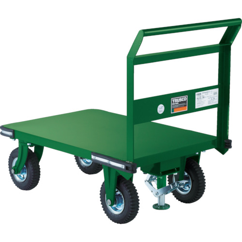 【OHN2ARS】TRUSCO 鋼鉄製運搬車 900X600 Φ223空気入タイヤ 鋳物金具 S付(1台)