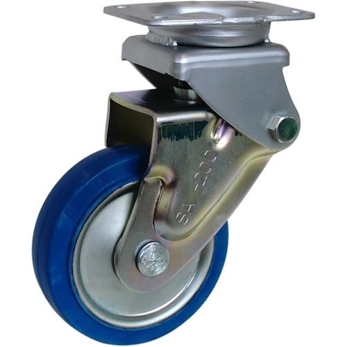 【SAKHO200SST】シシク 緩衝キャスター 固定 スーパーソリッド車輪 200径(1個)