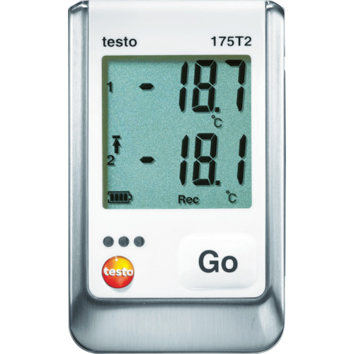 【TESTO175T2】テストー 温度データロガ内蔵1チャンネル+外付1チャンネル(1個)