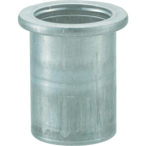 【TBN4M25AC】TRUSCO クリンプナット平頭アルミ 板厚2.5 M4X0.7  1000個入(1箱)