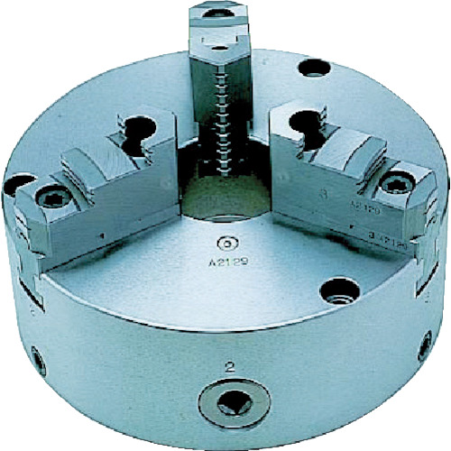【TC10A】ビクター 芯振れ調整型3爪スクロールチャック TC10A 10インチ 分割爪(1台)