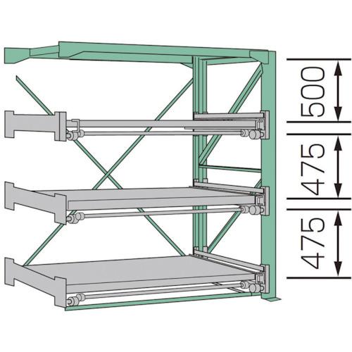 【SSR1020123FR】KDS スライドラックSSR10-2012-3FR(1台)