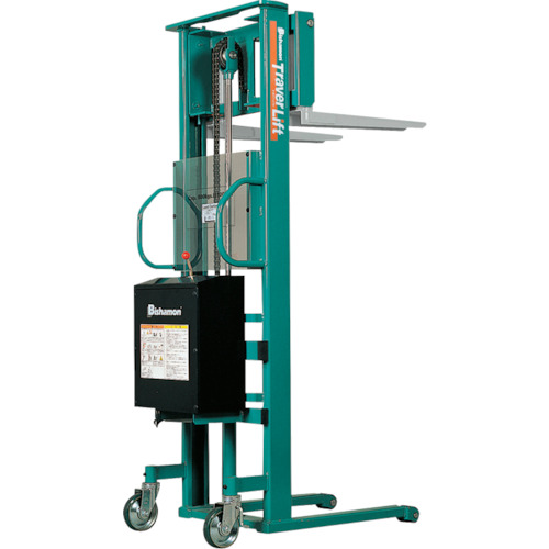 【STL65E】ビシャモン トラバーリフト(バッテリー上昇式) 均等荷重650kg 充電時間(1台)