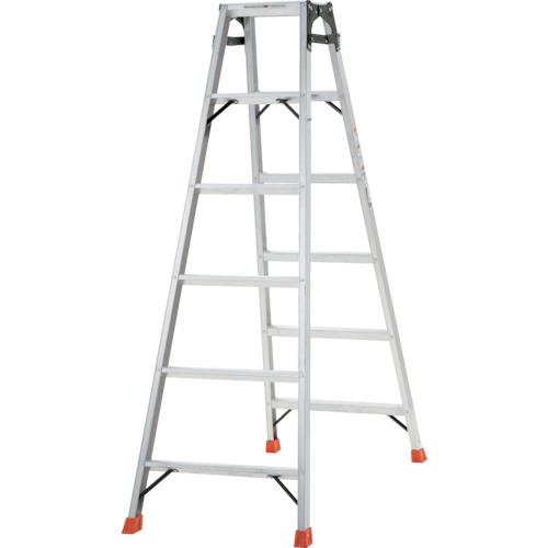 【THK180】TRUSCO はしご兼用脚立 アルミ合金製・脚カバー付 高さ1.69m(1台)