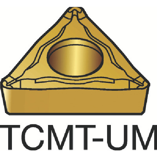 【TCMT110208UM:H13A】サンドビック コロターン107 旋削用ポジ・チップ H13A(10個)