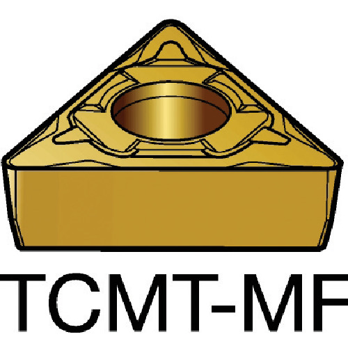 【TCMT06T104MF:2015】サンドビック コロターン107 旋削用ポジ・チップ 2015(10個)