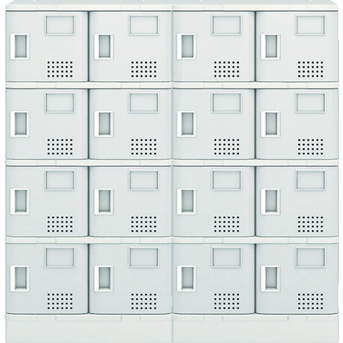 【TJLS44STGR】アイリスチトセ 樹脂ロッカー16人用 グレー(1台)