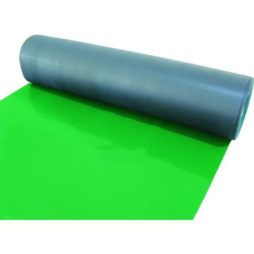【TEBM920GN】TRUSCO 塩ビマット B山 グリーン 1.5mmX915mmX20m(1巻)