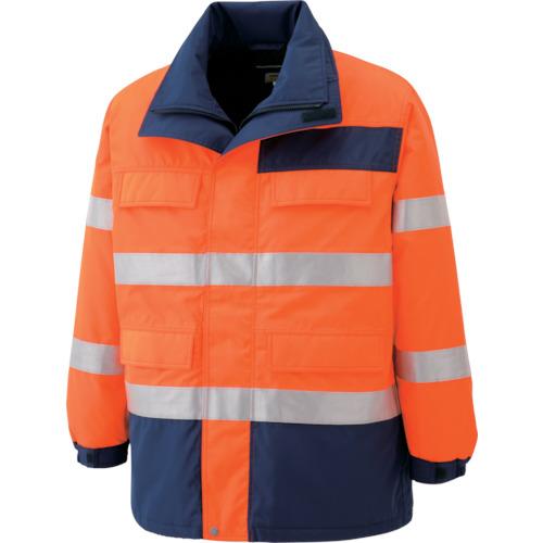 【SE1125UE3L】ミドリ安全 高視認性 防水帯電防止防寒コート オレンジ 3L(1着)