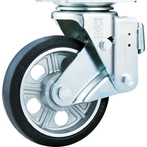 【SKY1S200AWAS】ユーエイ スカイキャスター自在車 200径アルミホイルウレタンB入り車輪(1個)