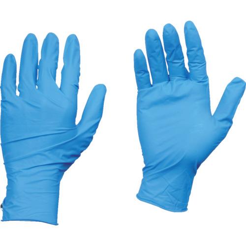 【TGPL10BL10C】TRUSCO 10箱入り 使い捨て天然ゴム手袋TGワーク 0.10 粉付青L(1Cs)