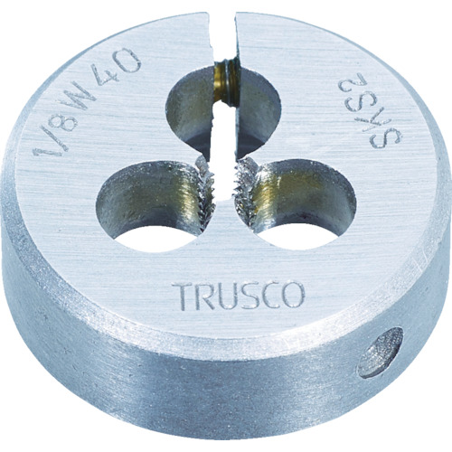 【T50D1W8】TRUSCO 丸ダイス SKS ウィット 50径 1W8(1個)