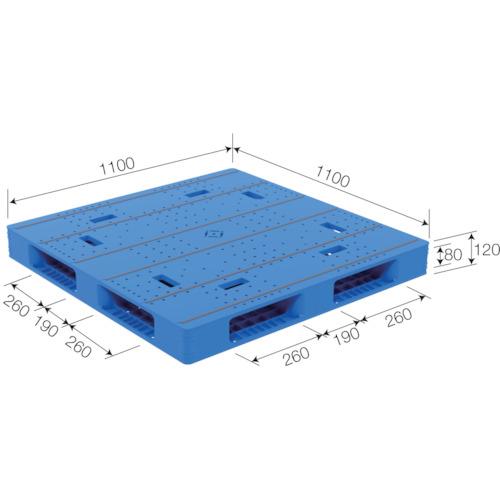 【SKLX1111R44BL】サンコー パレットLX-1111R4-4 ブルー(1枚)