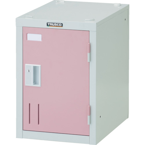 【SHW1AP】TRUSCO ミニロッカー 1人用 ピンク シリンダ錠式(1台)