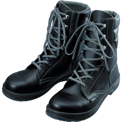 【SS3323.5】シモン 安全靴 長編上靴 SS33黒 23.5cm(1足)