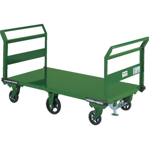 【SOHN1LWS】TRUSCO 鋼鉄製運搬車 両袖型 1400X750 鋳物6輪車 S付(1台)